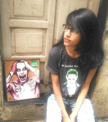 Mood 👀  T-shirt: #VoxPop  Denims: @stalkbuylove.com   #tuesdays #moodygrams #suicidesquad #jaredleto #joker #moviemaniac #roposodaily #roposostylefiles #fashion #blogger #youtuber #soroposo #photooftheday