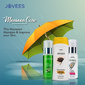 Monsoon Essentials! #monsooncare #monsoonspecial #skincareinmonsoon #skininmonsoon #monsoonproducts #beautyproducts #beauty #skincare #natural #herbal #bestbeautyproducts #beautyproductsinmonsoon #cleanser #toner #bodylotion #jovees