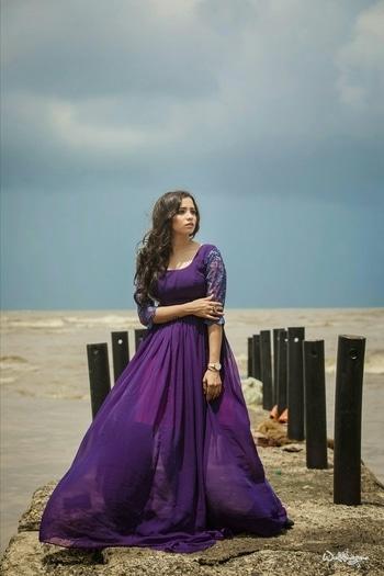 Infinity Gown jus like the infinity sea !🌠 #tuesdayhues #purplegown  #exoticfluidogown #amazinglybeautiful 💝 #MUAH @kreenamakeup  #Outfit @namzish  #PC @weddingrams . . . . . . #ootd #lotd #smooky #eyes #makeup #outift  #purple #gown #infinity #infinite #beauty #neverends #beautiful #exotic #shootlife #fashionblogger #lifestyleblogger #beautyblogger #makeupblogger #thelifestylediaryy