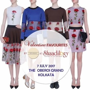 Welcome Kolkata Shaadilogy.com presents The Trousseau Closet we are delighted to share our best sellers and celebrity favorites from NITYA BAJAJ Visit us at SHAADILOGY-The Trousseau Closet on 7 July 2017 at The Oberoi Grand, Kolkata. #valentine #equine #oppositesattract #labelnityabajaj #nityabajaj #exhibition #roses #swaetshirts #crops #skirts #blouses #jackets #fusionwear #indiandesigner #india #uae #jakarta #shaadilogyexhibitionkolkata