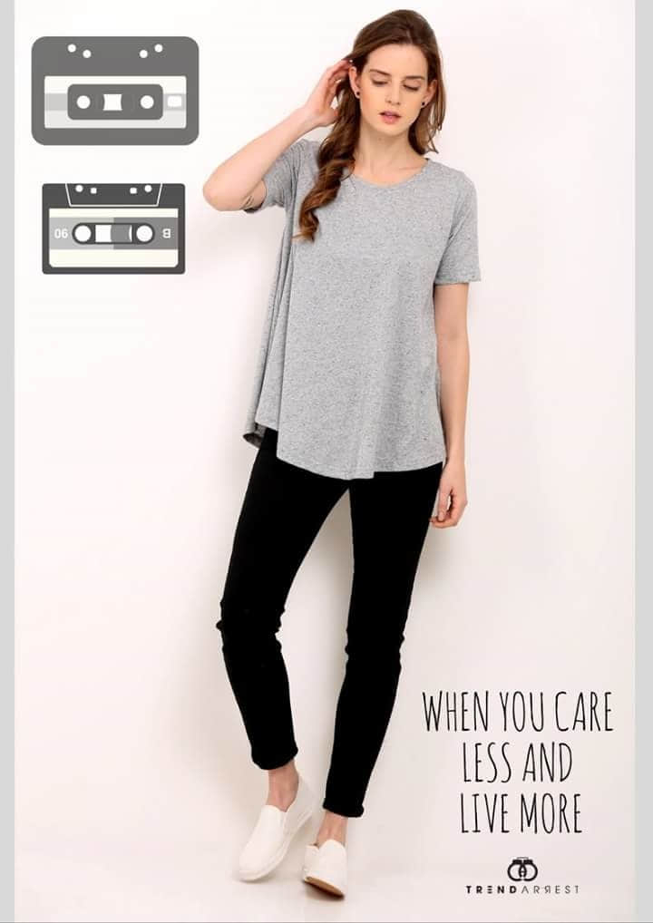A modern take on timeless style - The Grey Tee! #TALove #FashionArrest shop now - www.trendarrest.com #tops