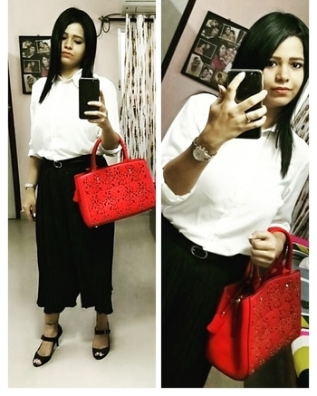 What I Wore @uvodwo meet#1  It was a New Experience to meet people from Different Business Background.Looking Forward For more such Events ## - - Dress Code Formal - - White Shirt - @veromodaindia - Black Cullotes - @local market - Heels - @catwalk Shoes - Bag - @luluandskyofficial -Belt - @lifestylestores - #entrepreneur  #entrepreneurlife  #meetandgreet  #bloggersmeet  #kolkatablogger  #event  #collaboration  #followme  #learning  #everyday  #selfiequeen  #styleblogger  #bloggermom  #new  #formaldress  #formals  #officewear  #likeit  #comment  #beatutiful  #classy  #smart  #wear  #instablogger