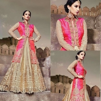New Bridal Wear Golden Diamond Work Kali Lehenga Features Pure Pink Raw Silk Koti Comes Along Qith Rani Net Dupatta. -9450 र /105£/158$/591 ریال591/د.اء.... ============================================================= 💖DM/WHATSAPP US FOR MORE REAL & PRICE 😍😍 -💰COD avilable within INDIA🚚... -stitching & shipping EXTRA... -✈ We do ship world wide✈... ✂[SEWING ALSO AVILABLE] ✂ 📱CALL/WHATSAPP/iMO/VIBER/TANGO +91 9825994272 -📩MAIL:-bayt.al.abd@gmail.com  #baytalabd #Dress #ootd #DesiFashion #Bollywood #Couture #Special #AsianBride #SouthIndianFashion #Online_Shopping #Valentine #KSA #Bridal #EthnicWear #Dubai  #Wedding_Collection #Wedding_Wear #koti_lehenga #koti_style #jacket_lehenga #jacket #pink_lehenga #golden_lehenga #Embroidered_lehenga #diamond_work #diamond_work_lehenga #bridal_lehenga #lehenga