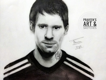 Lionel Messi 🔟 Made by me 😊 How's it guys.? #people #fcb #portrait  #argentina #adidas  #sketch #art  #strike  #retro #actor #football #fifa17 #art #pensive  #faceoftheday   #tagsforlikes #roposotalenthunt #sketchoftheday #picoftheday