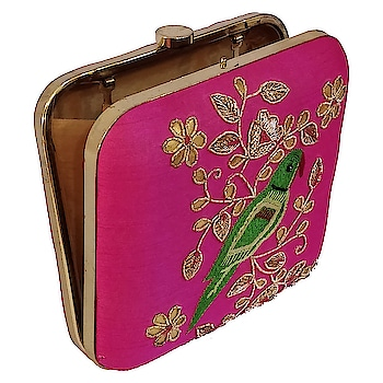 Arrive in style with this Stunning Pink Clutch! Finest golden and green embroidery will be the perfect accessory for any evening party.  Shop now at www.niche-one.com  #design #pink #green #golden #beads #embroidery #clutches #fashionaccessories #women #beautiful #trending #party #wedding #gifts #onlineshopping #online #bloggers #fashionbloggers #functions #events #picoftheday #followforfollow #likeforfollow #india #minaudiere
