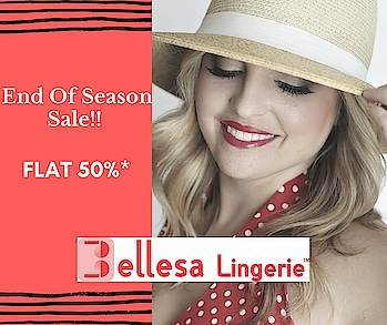 End Of Season Sale -FLAT 50 % Promotion time 27 June - 1st July.  First come, First Served!! Hurry Up,  Visit Store Now!! #bellesalingerie @korum_mall #lingeriestore #lingerie #endofseason #sale #neon #bras #knicker #boutique #lingerievdayparty #lingerielover #lingerieaddict #lingerieblogger #lingeriemodel #roposo #ropo-style #roposoblogger #roposo-fashiondiaries #roposo-fashion #ropo-fashion
