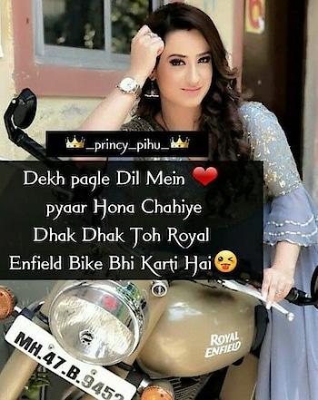 dhak dhak to bike B krti hai 😒😒   on request @shaikalthafazam @pata ni kon the.....  #roposoness #muhabbat #dilse #roposoers #roposofeed