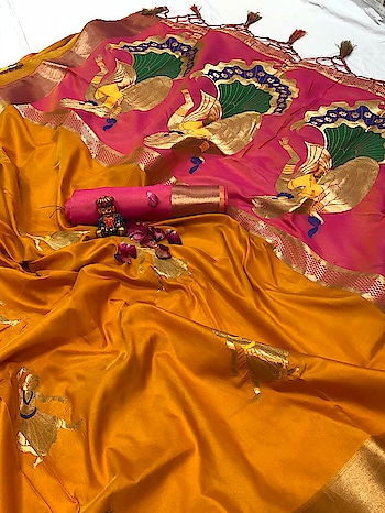 * We make as for ur demand only......*  Introducing *2 tone fabric with new kanjivaram concept in our very favorite sarees* with *rich mina work*  *Celebrate the season with this best suitable premium Kanjivarm with soft fabric with golden zari balt and love to hear contrast colour blouse and golden zari belt also  with  celebrate look with rich jull in pallu with 💃🏻desine......*  Book fast 💃🏻  Price: 1850/- free shipping  👑zt