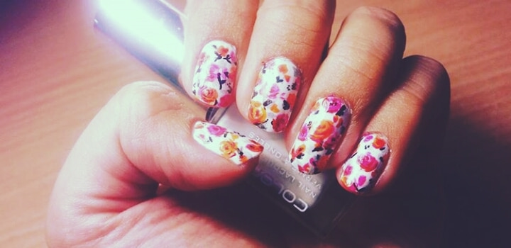 #amazing #nailart #in #my #nails I like this flower print 💅