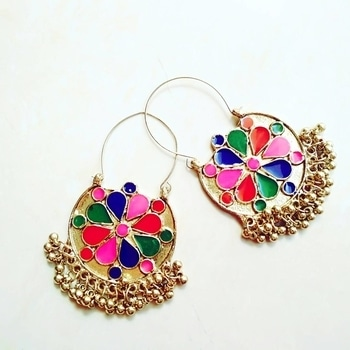 Multicolored Earrings!  Price: 299. Comment to Order. #newarrivals  #multicolored #earringsonline #multicoloredchandbali #chandbalis #India #diwali2017  #instastore #instashop #festivefashion  #colorful  #fashionaddict #earringswag #earringshop  #affordable #diwalioffer  #festivalmodeon  #ghunghroo #golden #trendy #jewellery #onlineshopping #jewelry  #followtofollow #delhi #up #mumbai #pune #hyderabad  #kolkata #ahemdabad #punjab #chandigarh