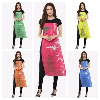 Fabric - crepe  Size - s M L XL XXL  Type - Only kurti  Full stitch  Rate-499/- with shipping charges contact on what's 9574728122