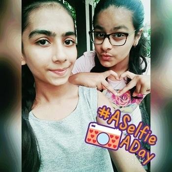 #Cute sis #lots of love #love you ❤ #aselfieaday