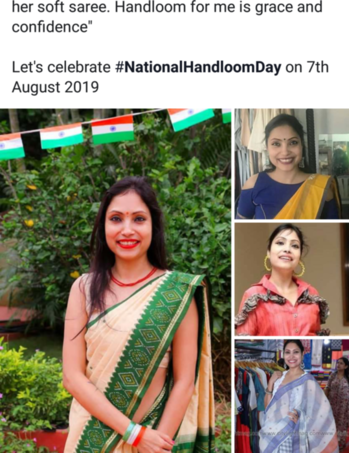 "#sudhajain  #handloom  #iwearhandloom   #MsIndiaAsiaPacific 2017-18, #MsAsiaPacifictalented   #MsHyd, Model, CelebJudge at India level says  ""Handloom is one of the richest aspects of the country. Handlooms are royal and fashionable.My grandma wrapped herself always in handloom and she looked royal and strong. She used to say ""hattho sai bunay dhaghay hamasha majboot hotay hai"". and wiped my mouth with her soft saree. Handloom for me is grace and confidence""  Let's celebrate #NationalHandloomDay on 7th August 2019"