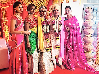 Celebrations have begun #shadi @samitaverekar you and Atin look so good together  #wedding so happy and such #goodvibes with the lovely family and friends @s.seema_shettty @shlpi 😊😊😚😚😚🤗🤗🤗 #sandhyashetty ❤#circleoffriends #friendsforever