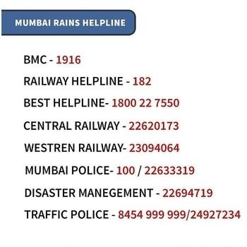 Mumbai Helpline Numbers and relief centers please share max #MumbaiRains #MumbaiFlooded #AamanTrikha #helpothersavelifes