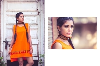 orangy and cutie little tassel dress.. style yours in just Rs. 1350/- #orangelove  #dressedtocomfort #tasselslove #fashionstylist #fashionbloggersofindia #summer-fashion #roposo-style #naitra.vision