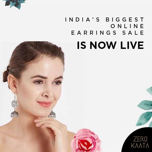 India's Biggest Online Earrings Sale has BEGUN!  Shop at 8 Earrings' Budget Stores and get upto 80% off on skin friendly earrings . . Visit https://www.zerokaata.com/earring-sale .  #earringsale #earringsaddict #bigearrings #newearrings #fashionearrings #statementearrings #dangleearrings #studearrings #pearlearrings #uniqueearrings #greenearrings #earringoftheday #hoopearrings #tasselearrings #handmadeearrings #earringscollection #earringsswag #earringsonline #earringsforwomen #stoneearrings #partyearrings #oxidizedjewellery #meenakariearrings #jewellerystore #onlinejewellerystore #jewellerystores #onlinejewelleryshoppingstore  #indianjewelleryonlinestore