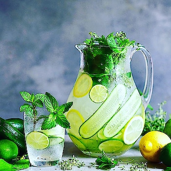 Detox water is any infused water recipe that helps flush your system of toxins and improves your health and help in weightloss, detox water recipes have beneficial ingredients which help your body in some ways (like boost metabolism), but the main beneficial ingredient is water which hydrates,lemon which is rich source of vitamin C, which is full of antioxidants and has many amazing health benefits, #Mint #Lemon #Detox #Drink #Ingredients #water #cucumber #AppleCiderVinegar  #Soda #daystart
