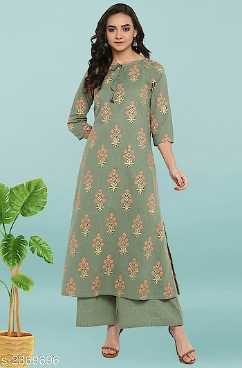 Janasya Womens Cotton Straight Combo Set of Kurtas   Sleeves: Sleeves Are Included  Size: Kurti -  XS - 34 in, S- 36 in. M - 38 in, L - 40 in, XL - 42 in, XXL - 44 in, 3XL - 46 in, Pant / Palazzo - Up To 28 in To 36 in)  Length: Variable (Message Product For Details)   Type: Stitched  Descaription:  Variable (Message Product For Details)  Work: Variable (Message Product For Details)  Dispatch: 2 - 3 Days  Designs: 9  Easy Returns Available in Case Of Any Issue