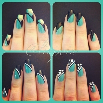 gud afternoon everyone with beautiful nail art via #roposers