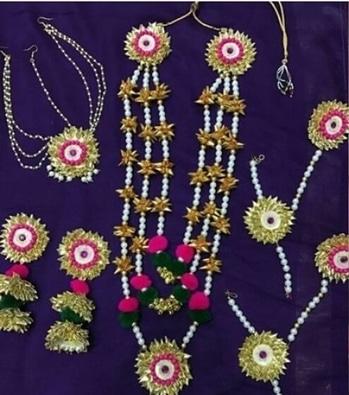 Gota jewellery  #threadJewerllery#beadsjewerlery#flowerart  #weddinggiveaways#beadsjewerlery#silkthreadjewelleryt#hreadjewerllery#gotajewerllery#threadbangles#jumka#f#pompom#bulkorders #fashion#mehandigiveways#haldigiveways#gives#returngifts#uniquecreation18#mehandi#haldi#weddingplanner#pompomjewerllery#beadsjewerllery#flowerjewllery#handmadejewelry#handmadeindianjewerllery#wedding#weddingbangles#weddinggiveways
