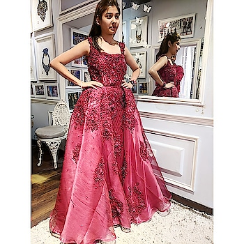 When bespoke @labelnityabajaj comes out to be this breathtaking 😍 Handcrafted to perfection at #NBHeadquarters  #happycustomers #happyclients #happytrails in #NityaBajaj  Come visit us at 37A shahpurjat, ground floor, NewDelhi For appointments call 9990185858 www.nityabajaj.com