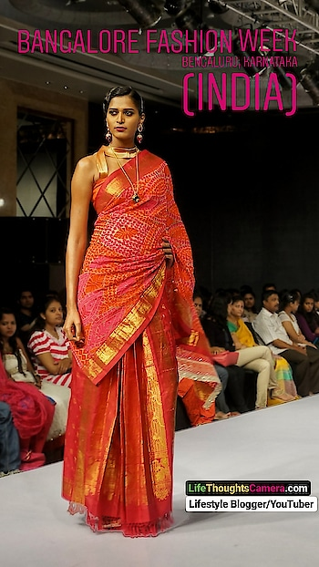 Model Mitali Rannorey in a students creation at the Blenders Pride Fashion Show in Bengaluru city, Karnataka (India). ⠀⠀⠀⠀⠀⠀⠀⠀ So, how do you drape your pallu? do you pin the drape in place for an elegant look or pleat? ⠀⠀⠀⠀⠀⠀⠀⠀ Visit my Lifestyle Website (link in bio) to view all my Fashion posts.  ⠀⠀⠀⠀⠀⠀⠀⠀ LifeThoughtsCamera.com ranked #8 in TopIndianBlogs  . . . . . . . . . . #saree #fashion #wedding #indian #bollywood #fashionphotography #fashion #model #photographer #fashionblogger #photo #photooftheday #instagood #love #picoftheday #fashionshow #fashion #fashionblog #fashiondesigner #fashionista #style #ootd #clothing #garment #dress #👩 #😄 #👀
