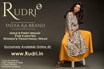 """Months Of Extensive Research,Hard work ,Meetings & Also Your Blessings & Support So We At Vibhutee Designer Sarees Studio Are Proud To Present You """"RUDRI"""" An Global Destination Brand For Traditional Wear Exclusively Available Only Online At www.Rudri.in No better Day To Launch The Brand Other Than An Journey Started By Our Founder Mr.Shankarlal Bhanushali 12 years Ago & taking The Legacy Forward With An Hope Of Your Support & blessing you have Showered Upon Us.  Indian Women Never Had An Opportunity To Shop From An Branded Store/Website & We Aim To Become An Global Destination With Curations Of Best Around India & More.  The Kurtis Section Is Live From Today So Shop Online At www.Rudri.in.  #RudriTheLabel #Rudri #12YearsOfVibhutee #RudriBrand #Motivation #IndianWear #trendalert"""