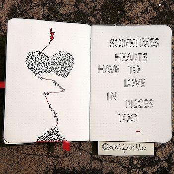 """""""Sometimes hearts have to love in pieces too."""" -Akif Kichloo  #soulfulquoteschannel #soulfulquotes #akifkichloo #quote #qotd #poetry #poem"""