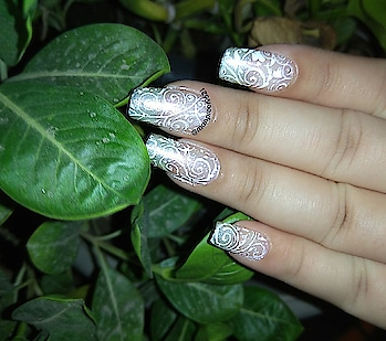 #NOTD #wmk #kaur #happy #happyme #potd #lacemani #nails #nailart #stamping #manicure #fashion #nails2inspire #nakednails #wedding #nailstagram #naildesigns #nailswagg #white #bornpretty#konad#aftersolong #bg #art #roposo #roposonails #so-ro-po-so