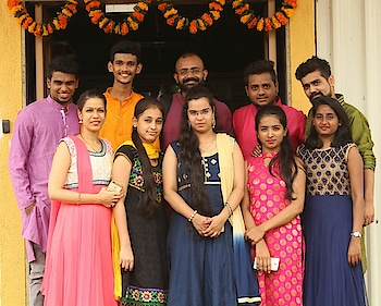 Second family be like💕 #office #traditionallook  #functionwear #happyfaces  #roposolove 😍