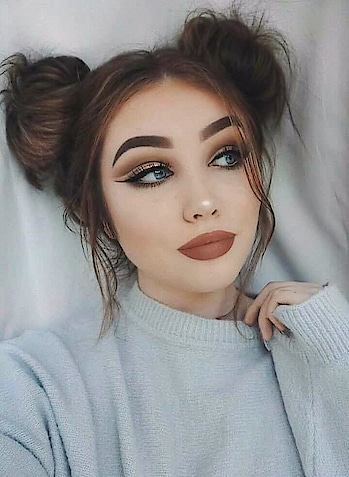 #hairdo #messy-bun #coolhairstyles #fashion-addict #attractiveeyes #choclatelover #brownlipstick #fullerlips #cateye #catlook #be beautiful be gorgeous👰 #beauty essentials #beingrealgetsyouhated #alwayskeepitstylish ##fashion #trend  #that glam look #be beautiful #loveyourselfnomatterwhat #popxo #so-roposo #glamglow #keep_smiling #staypositive #stayclassy #keepfollowingformore