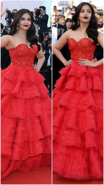 'Style statement with red on red'.😙 😙 😙 @aishwaryarai #cannes2017#repost# L'Oréalindia #glamlook #glamourgirl #Fashion post #fashion-diva #fashionstatement #fashionworld #fashion blog #fashionwear #fashion blogger #fashionicon #bollywoodactress #chiclook  #roposoindia #Delhi blogger #roposo-fashiondiaries #fashion blogger network #Designergown.  #stylealertsbykm