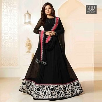 Buy Now @ https://goo.gl/3QayP9  Entrancing Black Color Georgette Anarkali Designer Suit  Fabric- Georgette  Product No 👉 VJV-MANJ43452  @ www.vjvfashions.com  #chaniyacholi #ghagracholi #indianwear #indianwedding #fashion #fashions #trends #cultures #india #womenwear #weddingwear #ethnics #clothes #clothing #indian #beautiful #lehengasaree #lehenga #indiansaree #vjvfashions #bridalwear #bridal #indiandesigner #style #stylish #bollywood #kollywood #celebrity #outfits #salwarkameez