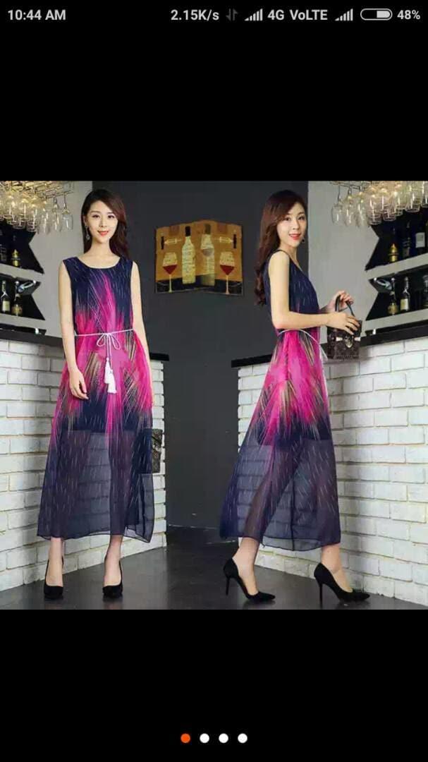 #MyFirstPost #SoRoposo *Beautiful chiffon Gowns*  Fabric - Chiffon   *Wid Belt*+ *wid Inner*  Size - free ( upto 38)  *Price- 699+ shipping*  *Ready to ship*