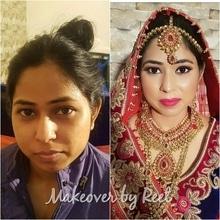 Bridal Makeover # HD Maccosmetics # Inglot # Anastasia # Estee Lauder # Sephora # Bellezza Cara # MUA Reet 😘