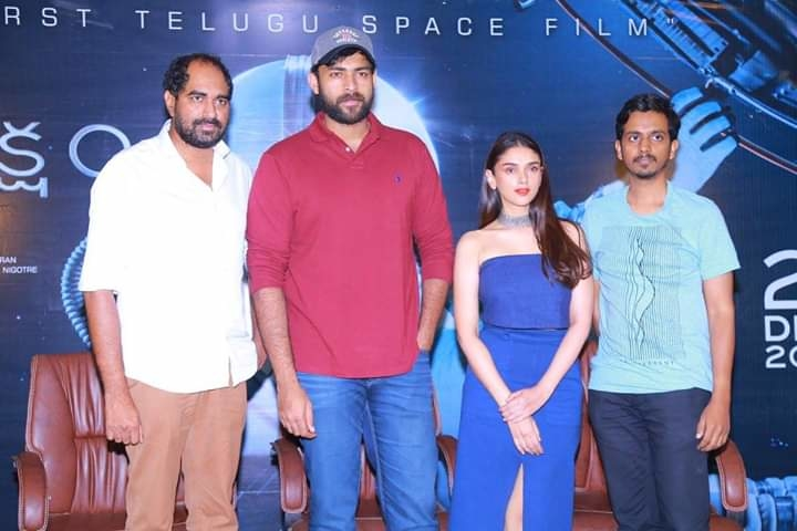 #Antariksham9000kmph Press Meet Photos   Varun Tej Lavanya Tripathi Aditi Rao Hydari #SankalpReddy Krish Jagarlamudi