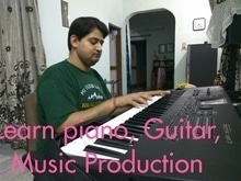 interested in learning piano, guitar, music production contact me whatsapp at 09990202733 Abhinav. #music