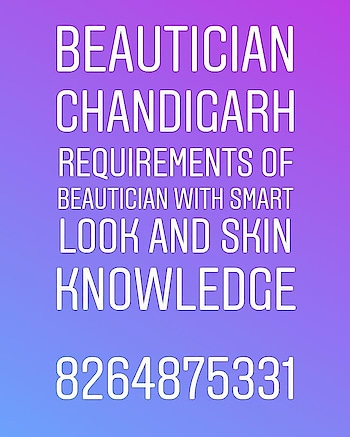#beautician #skin #skincare #girls #frontoffice #salon Required in #chandigarh  #Hospo24 WhatsApp 8264875331 Recruiter :- www.kainthconsultancy.com 👉Apply here :- https://bit.ly/2IiYZkz  PROJECT :- www.hospo24.com
