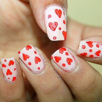 Easy Heart Nailart using dotting tool.. for Valentine's weekk ( for beginners ).... ♥️😍💃 . . . .  #heart #heartnails #heartnailart #redheart #valentinenailart #valentinesdaynailart #valentinesday #valentinenails #red #love #lovenails #nailsoftheday #nailsoftheweek #coloroflove #nailsoflove #nailart #rednails #nailartist #blogger #fashionblogger #follow #keepfollowing #spreadlove #februarynails #easynailart #nailartforbeginner