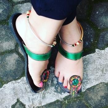 Indowestern look i created for navratri with these ethnic footies#anklet#multicolor##fashion#anklet#stylish#Dushera#stylish #fabulous #fashion #fashionable #stylishwear#highlights#keepitstylish#myfashionconfession#fashionstylist#fashionblogger#puneblogger#pune#punefashion#PFWstyle#ethnic#desi#indowestern#indian#navratri#navratrilook#ethnicfootwear