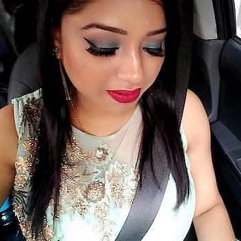 Makeup OF The Day.... #gowndresses  #seagreen #ilovemyindia #indianyoutuber #delhifashionblogger