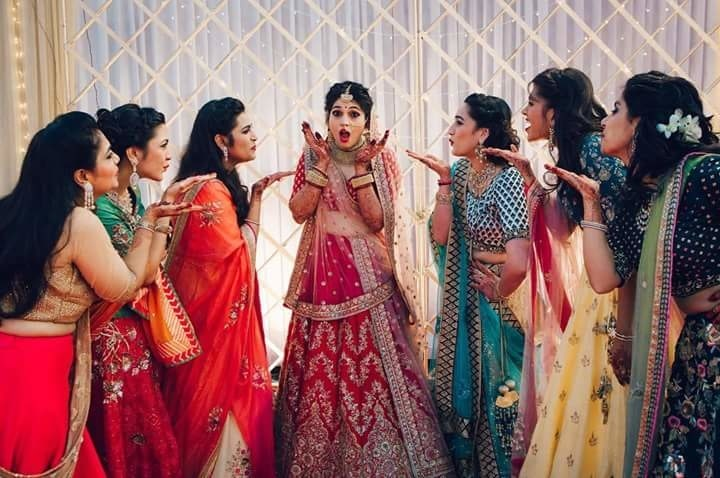 #BridesmaidsTales  Playful captures like this with your dearest bridesmaids can make a remarkable shot for your wedding diary.  Image Credit: theweddingcrasherofficial  #WedLista #FashionForWeddings #bridesmaids #weddingwear #onlineshopping  #weddingdiaries #ropo-love