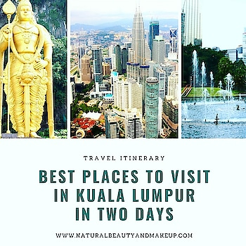 #newblogpost  Hey buddies, are you planning for a two-day/short trip to #kualalumpur  #malaysia  ? Then check out my #travelpost  on best places to visit and things to do in KL in two days ☺☺ #linkinbio  Hope you find the post helpful 💕 #naturalbeautyandmakeup  #nbamtravels . . . . . . . . . . . . #travelitinerary #kualalumpurmalaysia #traveltips  #placestovisit  #travelblog  #travelblogger  #travel  #travelogue  #thingstodo  #mustseeplaces  #mustvisitplace  #shorttrip  #nbamblog #roposotravel #roposoblogger #roposotraveller