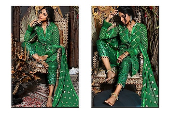 Emerald continues to rule hearts... Grab our mirrored suit with Sequin pakistani pants at #NityaBajaj  Perfect for a formal evening #SprinklebyNityaBajaj #green #greensequins #labelnityabajaj #autumnwinterfestive2019 #mirror #labelnityabajaj #indiansuit #eveningwear #weddinglook