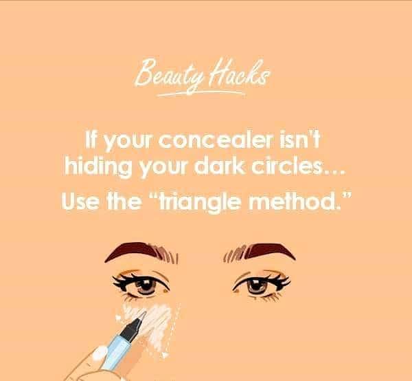 Have you tried the triangle method yet??? #concealer  #beautyhacks #makeuptips #makeuphacks #tipsandtricks #tips #makeuptricks
