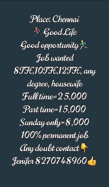 job vacancy, job, job in. Chennai