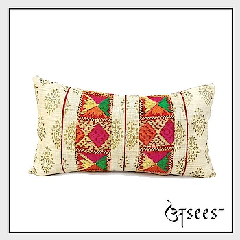 Planning to give a makeover to your home? How about adding more fun colours to your home décor with this multi-coloured phulkari cushion covers.. . . . #aseesbyaakriti #asees  #phulkari  #cushioncover  #phulkari_collection #thread_work  #cushioncoversonline  #instafashionista  #fashiondiaries  # #homedecor  #interiordesigninspo #interiordesignideas  #decor  #designlife #homedesigns  #handmade  #homesweethome  #interior   #furniture #luxury  #homedecoration #homestyledecor #interiordecor #instahome #interiordesign   #homeideas #indianinteriors #indiandecorideas