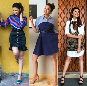 while doing the promotion of her upcoming movie Golmaal 4 , Parineeti shows off her layering skills and definitely looks stunning. . .#filmistaan#celebritylooks#ootd#golmaal4#promotionalevents#actress.
