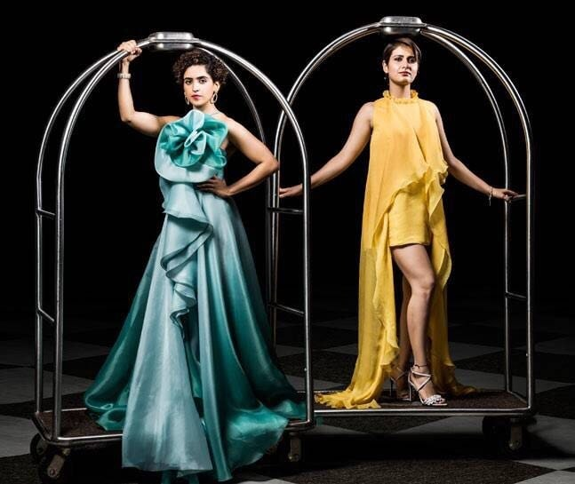 Styled my favourites for @india.today magazine's cover shoot march issue✨  On Fatima Sana Shaikh Dress- Gauri and Nainika  Jewellery- Minawala and Renu Oberoi Heels- Charles & Keith  On Sanya Malhotra Gown- @GauriandNainika Jewellery- Aurelle by Leshna Shah and @Renu Oberoi Heels- Charles & Keith . . . #indiatoday #covershoot #styledbyme #celebritystylist #stylist #sanyamalhotra #fatimasanashaikh #beesandbaubles